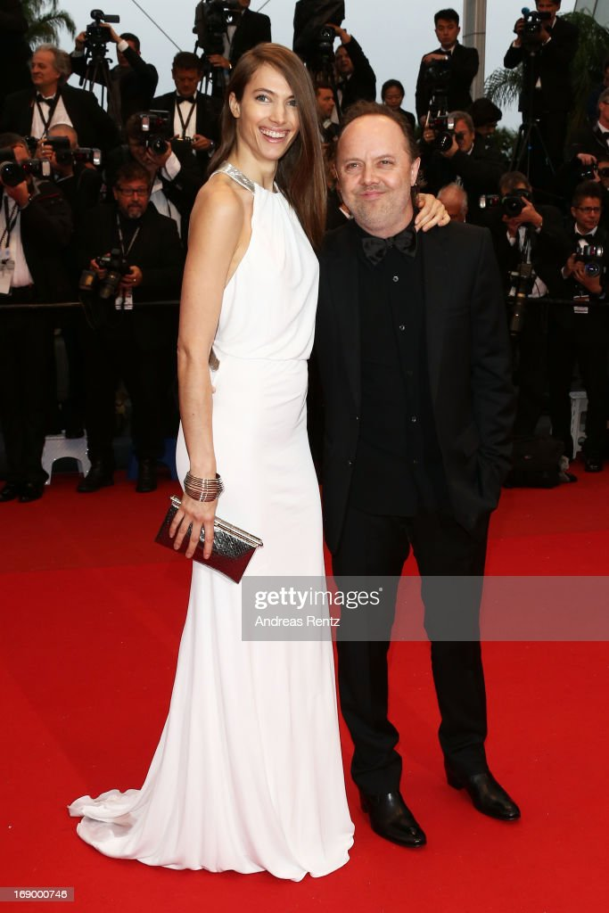 Model Jessica Miller and drummer Lars Ulrich attends the 'Jimmy P ' Premiere during the 66th Annual Cannes Film Festival at the Palais des Festivals...