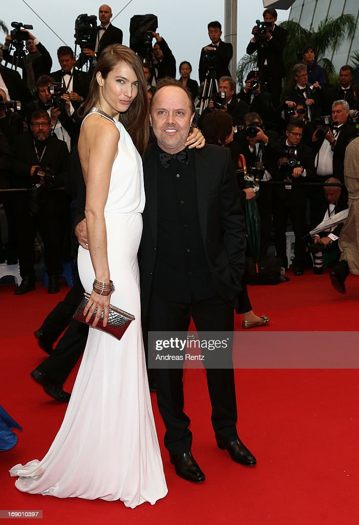 Model Jessica Miller and her husband Lars Ulrich attend the 'Jimmy P. (Psychotherapy Of A Plains Indian)' Premiere during the 66th Annual Cannes Film Festival at the Palais des Festivals on May 18, 2013 in Cannes, France.