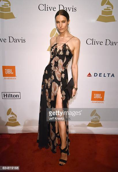 Model Jessica Miller attends the 2017 PreGRAMMY Gala And Salute to Industry Icons Honoring Debra Lee at The Beverly Hilton Hotel on February 11 2017...