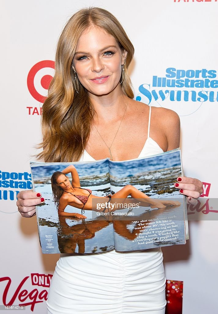 Model Jessica Perez attends Sports Illustrated Swimsuit Launch Party at Crimson on February 12, 2013 in New York City.