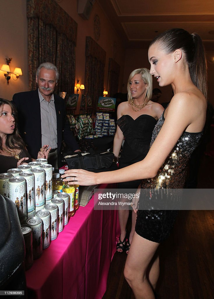Model Jessica Serfaty poses backstage during the 12th annual Young Hollywood Awards sponsored by JC Penney , Mark. & Lipton Sparkling Green Tea held at the Ebell of Los Angeles on May 13, 2010 in Los Angeles, California.