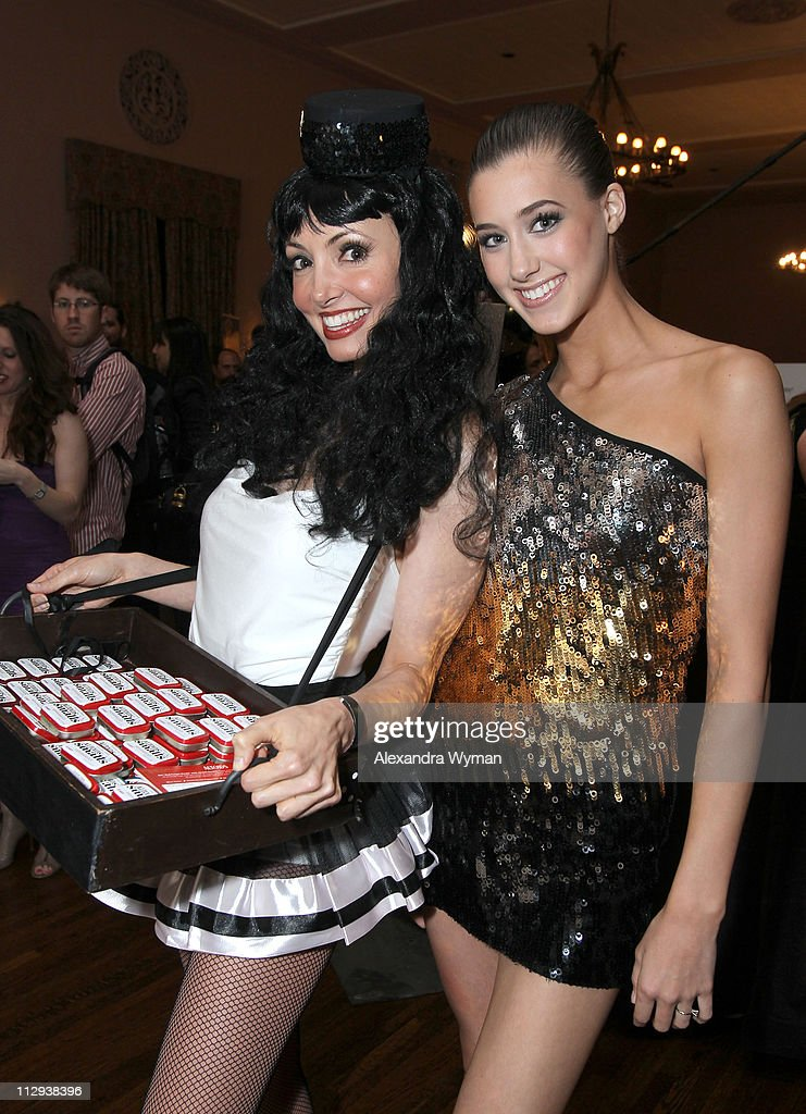 Model Jessica Serfaty (R) poses backstage during the 12th annual Young Hollywood Awards sponsored by JC Penney , Mark. & Lipton Sparkling Green Tea held at the Ebell of Los Angeles on May 13, 2010 in Los Angeles, California.