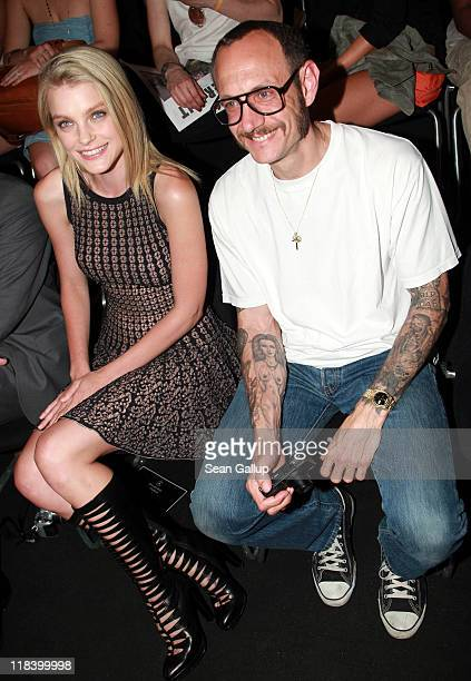Model Jessica Stam and photographer Terry Richardson attend the Rena Lange Show during MercedesBenz Fashion Week Berlin Spring/Summer 2012 at the...