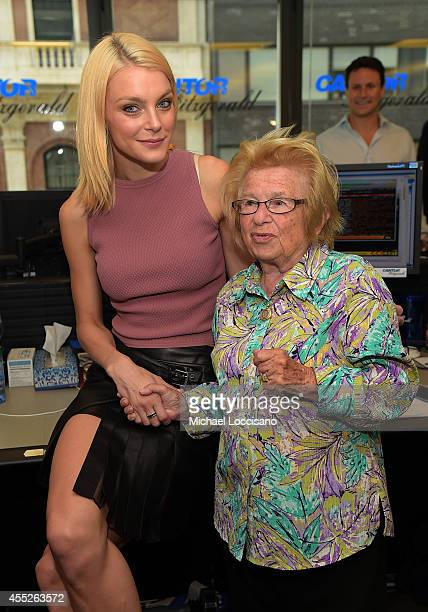 Model Jessica Stam and sex therapist Dr Ruth attend Annual Charity Day Hosted By Cantor Fitzgerald nd BGC at Cantor Fitzgerald on September 11 2014...