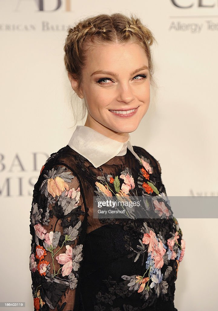 Model Jessica Stam attends American Ballet Theatre 2013 Opening Night Fall Gala at David Koch Theatre at Lincoln Center on October 30, 2013 in New York City.