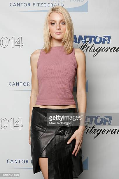 Model Jessica Stam attends Annual Charity Day Hosted By Cantor Fitzgerald And BGC at Cantor Fitzgerald on September 11 2014 in New York City