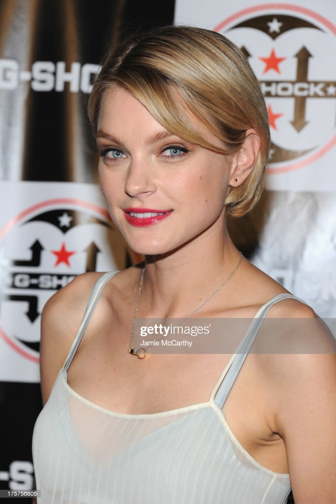 Model <a gi-track='captionPersonalityLinkClicked' href=/galleries/search?phrase=Jessica+Stam&family=editorial&specificpeople=657570 ng-click='$event.stopPropagation()'>Jessica Stam</a> attends G-Shock Shock The World 2013 at Basketball City on August 7, 2013 in New York City.