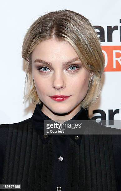 Model Jessica Stam attends the 2013 Malaria No More Honors at Frederick P Rose Hall Jazz at Lincoln Center on November 11 2013 in New York City