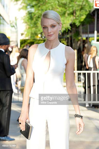 Model Jessica Stam attends the 2014 CFDA fashion awards at Alice Tully Hall Lincoln Center on June 2 2014 in New York City