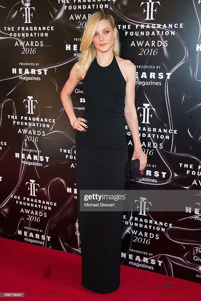 Model Jessica Stam attends the 2016 Fragrance Foundation Awards at Alice Tully Hall at Lincoln Center on June 7 2016 in New York City