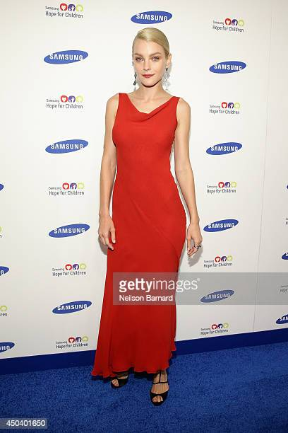 Model Jessica Stam attends the Samsung Hope For Children Gala 2014 on June 10 2014 in New York City
