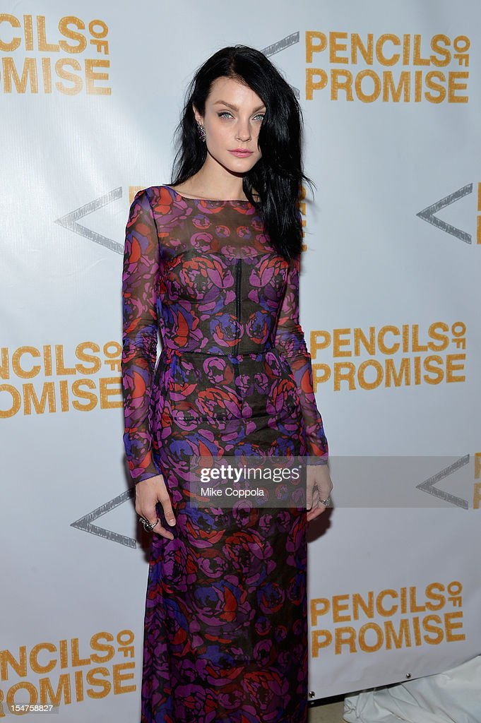 Model Jessica Stam attends the second annual Pencils of Promise Gala at Guastavino's on October 25, 2012 in New York City.