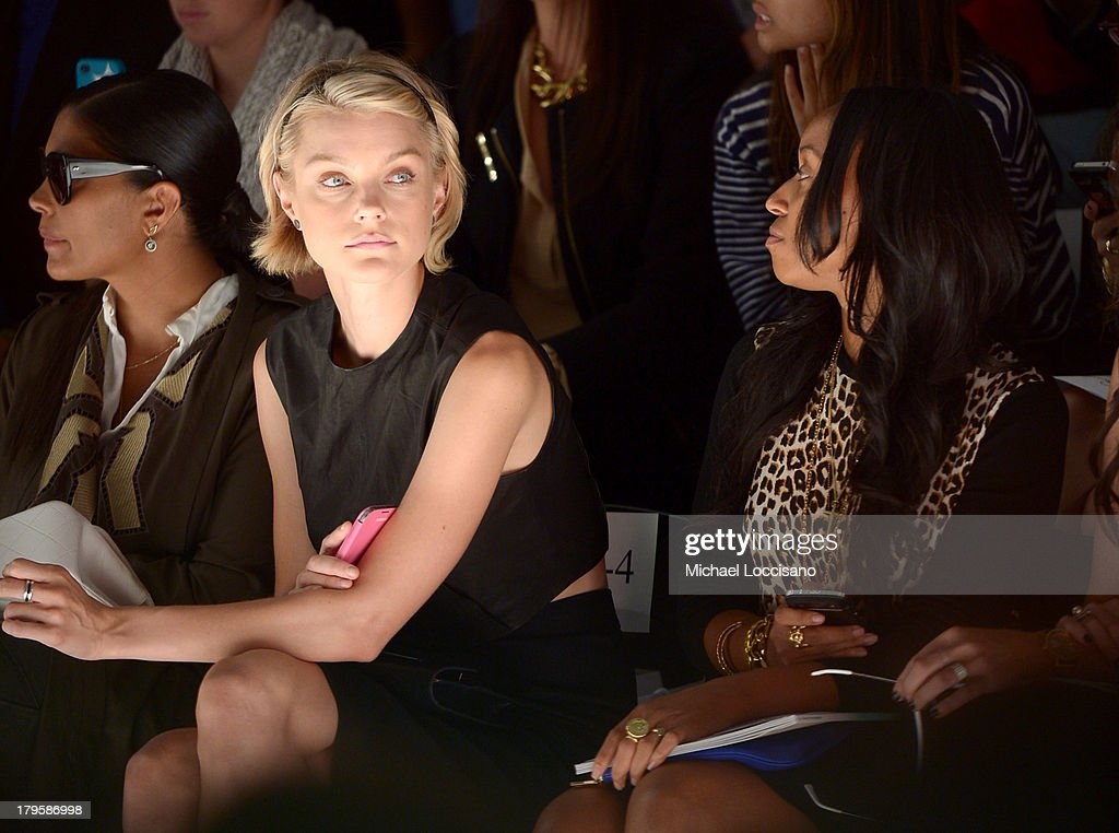 Model <a gi-track='captionPersonalityLinkClicked' href=/galleries/search?phrase=Jessica+Stam&family=editorial&specificpeople=657570 ng-click='$event.stopPropagation()'>Jessica Stam</a> attends the Supima Spring 2014 fashion show during Mercedes-Benz Fashion Week at The Studio at Lincoln Center on September 5, 2013 in New York City.