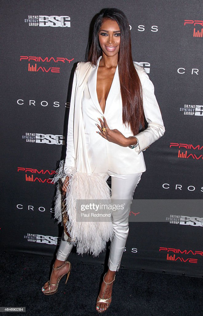 Model Jessica White attending Primary Wave 9th Annual Pre-Grammy Prty at RivaBella on February 7, 2015 in West Hollywood, California.