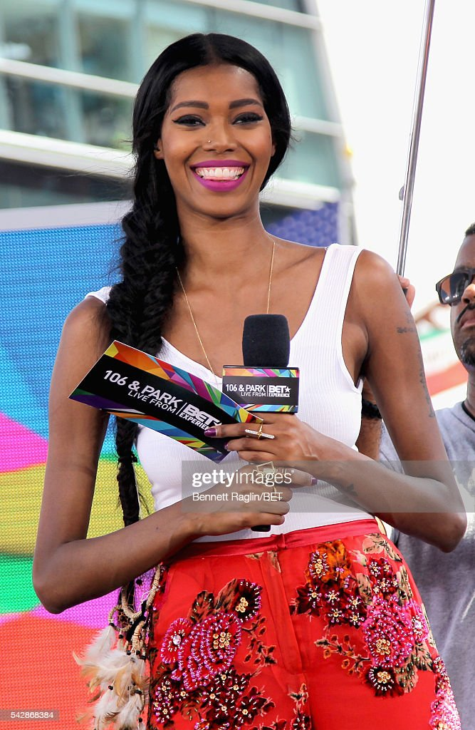 Model Jessica White attends 106 & Park sponsored by Apple Music during the 2016 BET Experience at Microsoft Square on June 24, 2016 in Los Angeles, California.