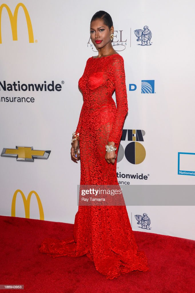 Model <a gi-track='captionPersonalityLinkClicked' href=/galleries/search?phrase=Jessica+White&family=editorial&specificpeople=220742 ng-click='$event.stopPropagation()'>Jessica White</a> attends the 2013 EBONY Power 100 List Gala at Frederick P. Rose Hall, Jazz at Lincoln Center on November 4, 2013 in New York City.