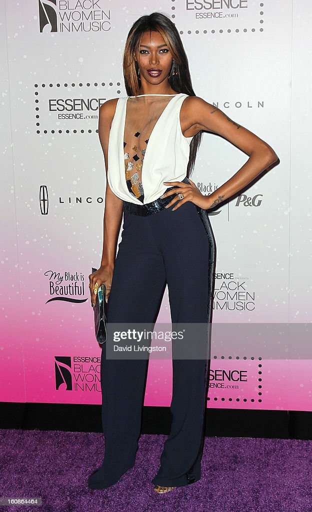 Model Jessica White attends the 4th Annual ESSENCE Black Women In Music honoring Lianne La Havas and Solange Knowles at Greystone Manor Supperclub on February 6, 2013 in West Hollywood, California.