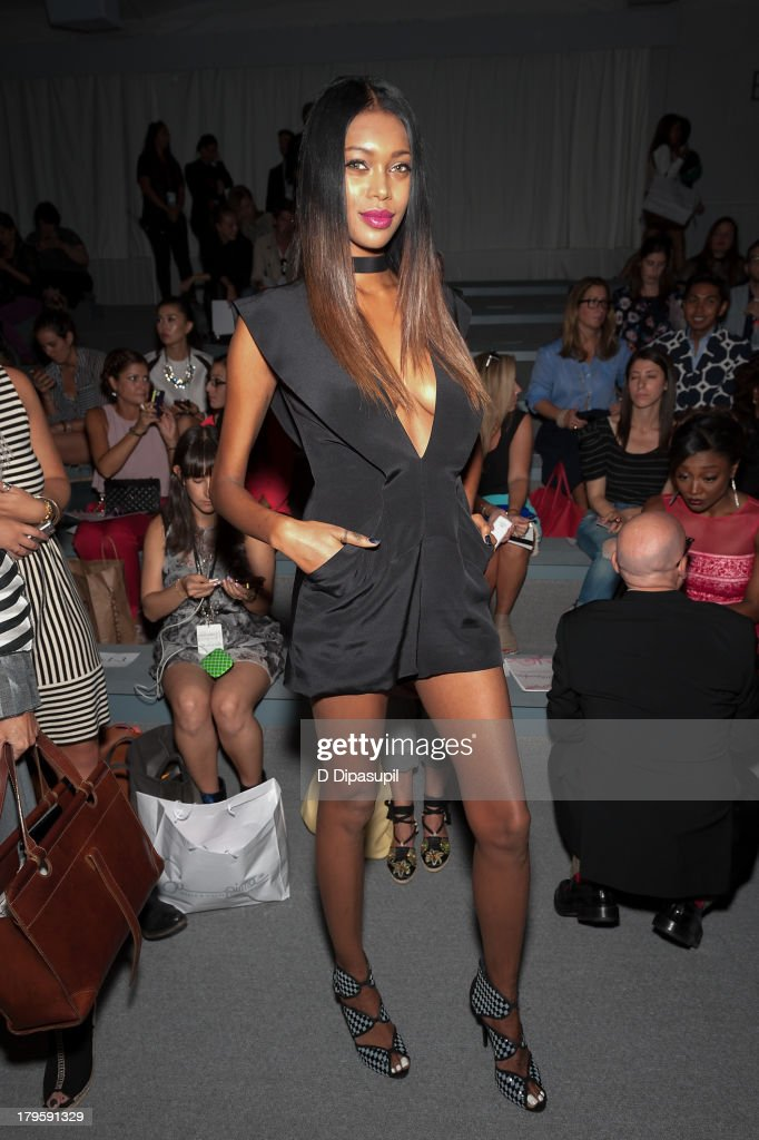 Model <a gi-track='captionPersonalityLinkClicked' href=/galleries/search?phrase=Jessica+White&family=editorial&specificpeople=220742 ng-click='$event.stopPropagation()'>Jessica White</a> attends the Tadashi Shoji Spring 2014 fashion show at The Stage Lincoln Center on September 5, 2013 in New York City.