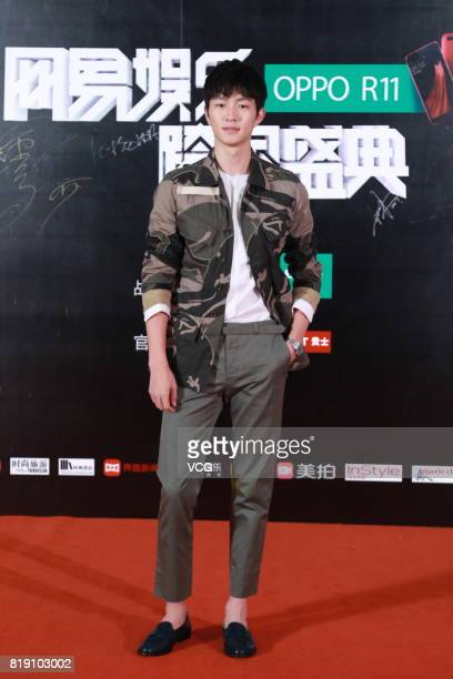 Model Jin Dachuan arrives at the red carpet of 2017 NetEase Entertainment Ceremony on July 19 2017 in Beijing China