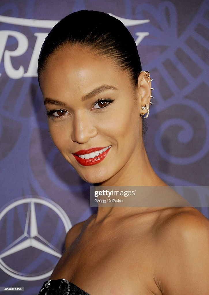 Model Joan Smalls arrives at the Variety And Women In Film Annual Pre-Emmy Celebration at Gracias Madre on August 23, 2014 in West Hollywood, California.