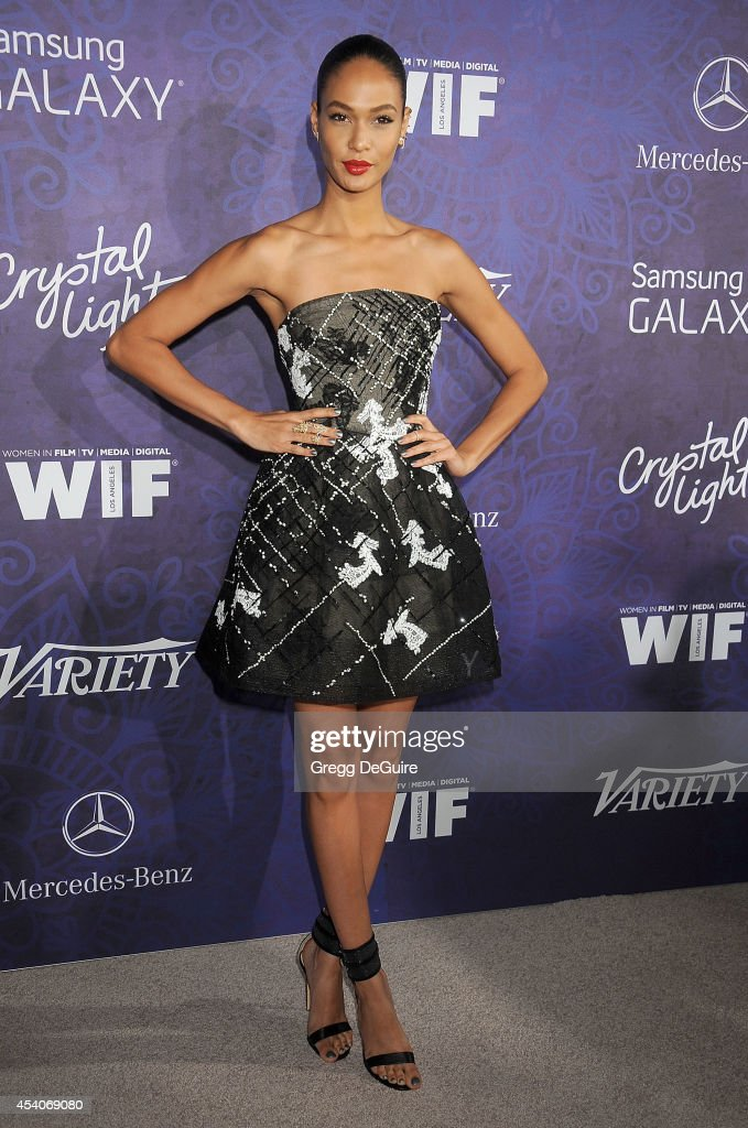 Model Joan Smalls arrives at the Variety And Women In Film Annual PreEmmy Celebration at Gracias Madre on August 23 2014 in West Hollywood California