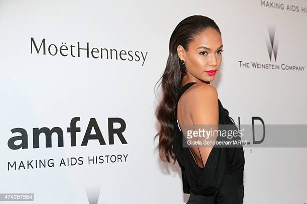 Model Joan Smalls attends amfAR's 22nd Cinema Against AIDS Gala Presented By Bold Films And Harry Winston at Hotel du CapEdenRoc on May 21 2015 in...
