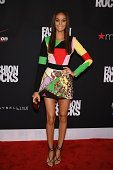 Model Joan Smalls attends Fashion Rocks 2014 presented by Three Lions Entertainment at the Barclays Center of Brooklyn on September 9 2014 in New...