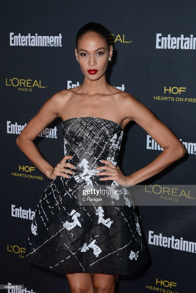 Model Joan Smalls attends the 2014 Entertainment Weekly Pre-Emmy Party at Fig & Olive Melrose Place on August 23, 2014 in West Hollywood, California.