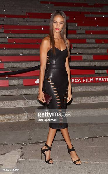 Model Joan Smalls attends the 2015 Tribeca Film Festival Vanity Fair Party at State Supreme Courthouse on April 14 2015 in New York City