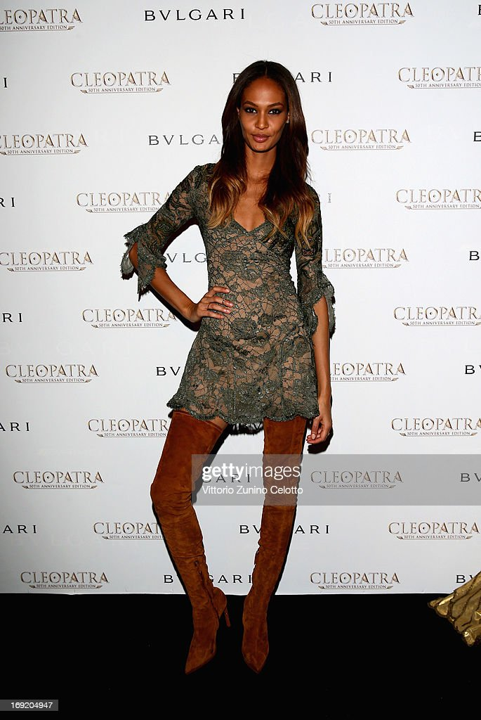 Model Joan Smalls attends the 'Cleopatra' cocktail hosted by Bulgari during The 66th Annual Cannes Film Festival at JW Marriott on May 21, 2013 in Cannes, France.