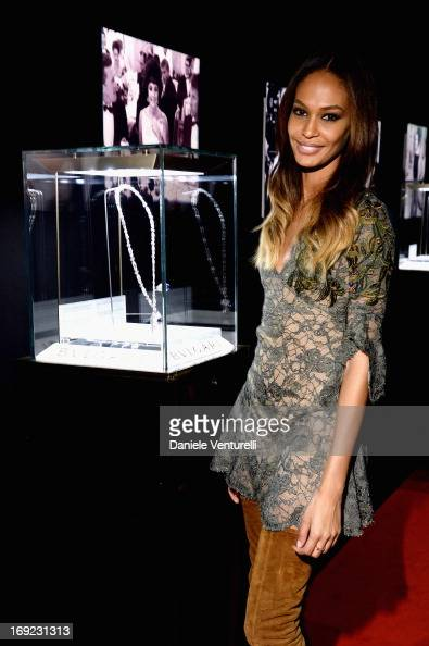 Model Joan Smalls attends the 'Cleopatra' cocktail hosted by Bulgari during The 66th Annual Cannes Film Festival at JW Marriott on May 21 2013 in...