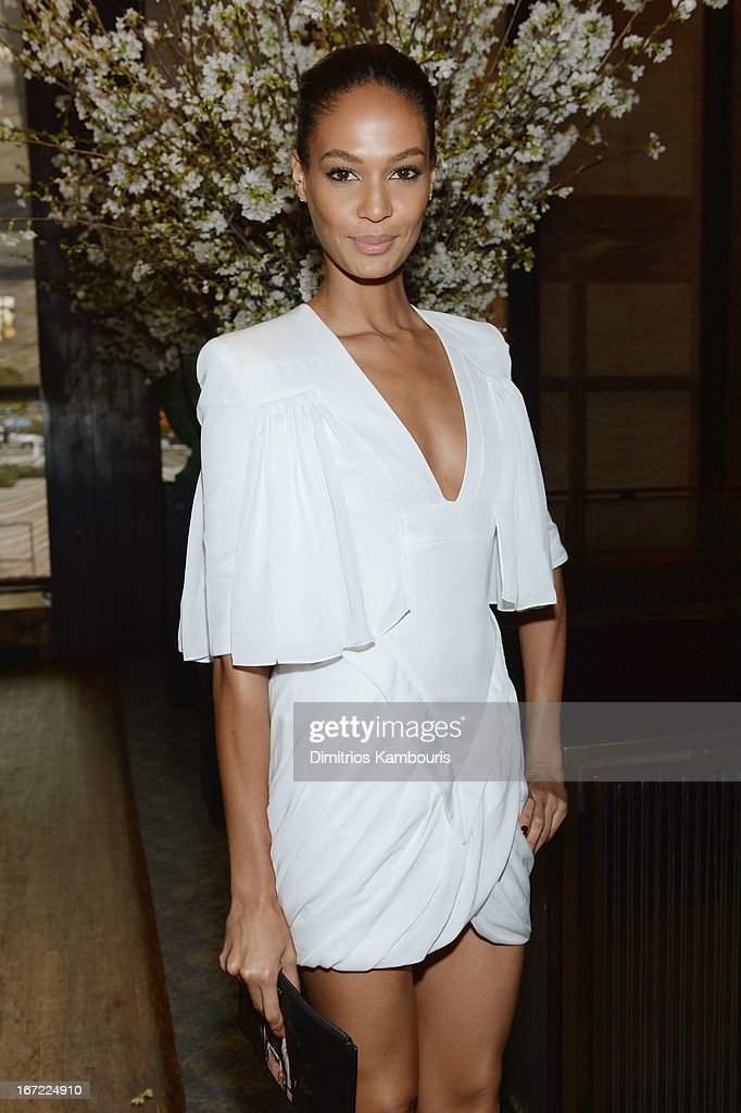 Model Joan Smalls attends the Conde Nast Celebrates Editorial Excellence: Toast To Editors, Writers And Contributors on April 22, 2013 in New York City.