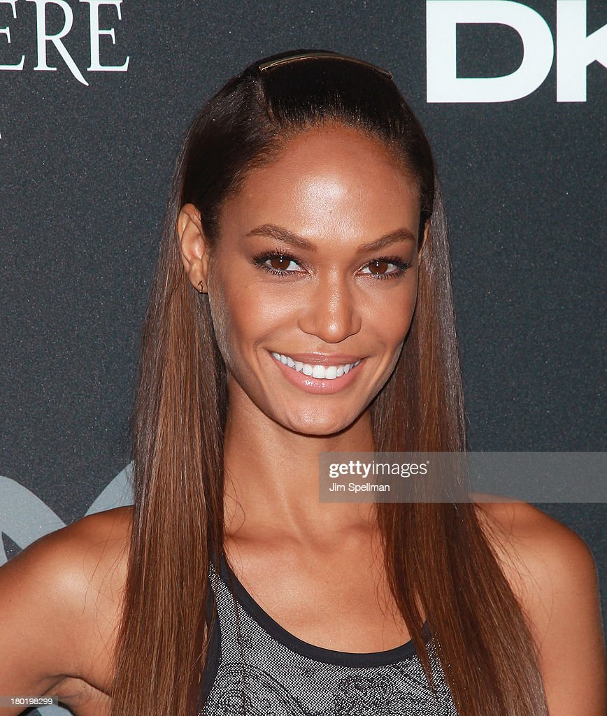 Model <a gi-track='captionPersonalityLinkClicked' href=/galleries/search?phrase=Joan+Smalls&family=editorial&specificpeople=5714628 ng-click='$event.stopPropagation()'>Joan Smalls</a> attends the #DKNY25 Birthday Bash at 23 Wall Street on September 9, 2013 in New York City.
