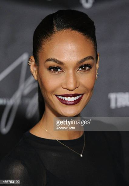 Model Joan Smalls attends the Joan Smalls True Religion Collection Celebration at Gramercy Park Hotel Rooftop on March 18 2015 in New York City