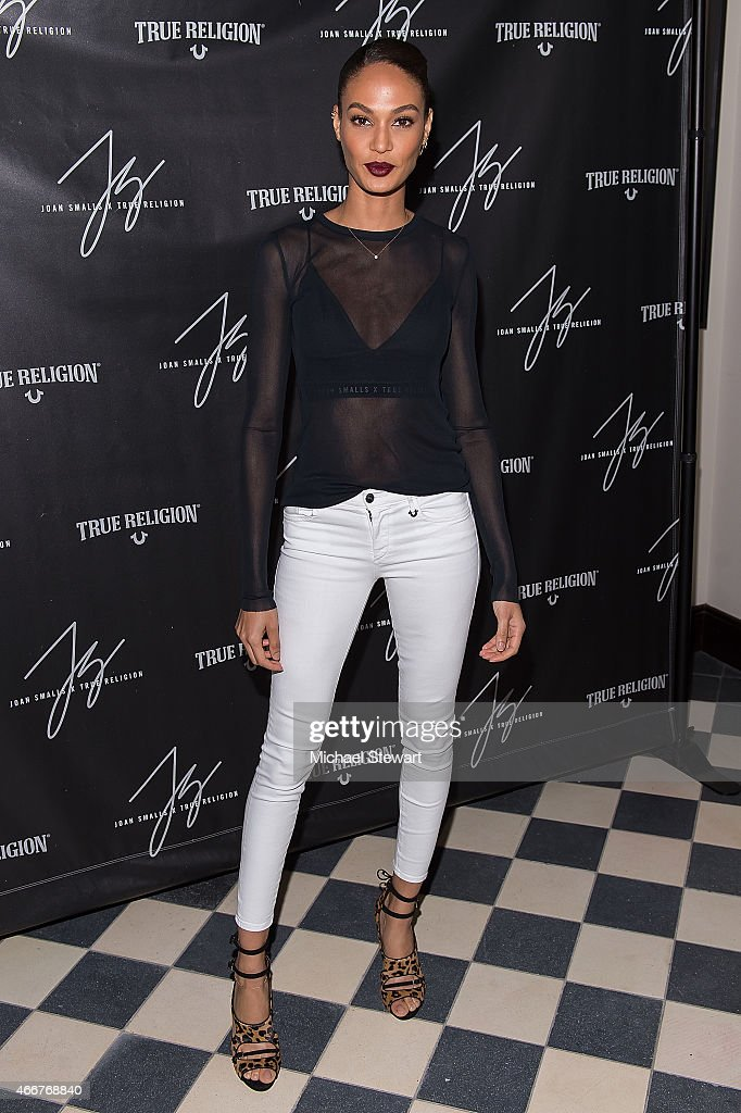 Model <a gi-track='captionPersonalityLinkClicked' href=/galleries/search?phrase=Joan+Smalls&family=editorial&specificpeople=5714628 ng-click='$event.stopPropagation()'>Joan Smalls</a> attends the <a gi-track='captionPersonalityLinkClicked' href=/galleries/search?phrase=Joan+Smalls&family=editorial&specificpeople=5714628 ng-click='$event.stopPropagation()'>Joan Smalls</a> True Religion Collection Celebration at Gramercy Park Hotel Rooftop on March 18, 2015 in New York City.