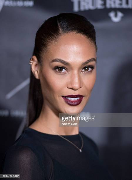 Model Joan Smalls attends the Joan Smalls True Religion Collection launch event at Gramercy Park Hotel Rooftop on March 18 2015 in New York City
