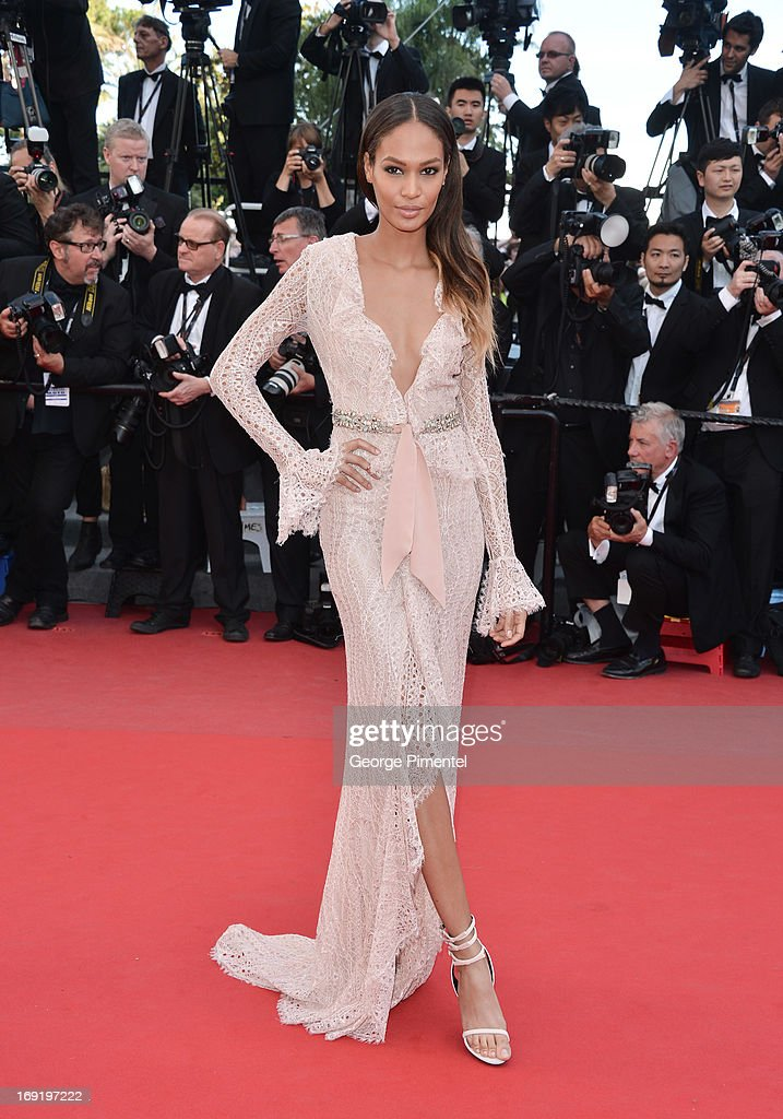 Model Joan Smalls attends the Premiere of 'Cleopatra' at The 66th Annual Cannes Film Festival>> on May 21, 2013 in Cannes, France.