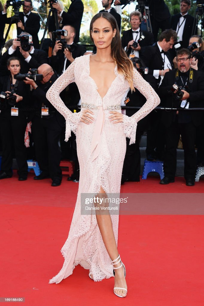 Model Joan Smalls attends the Premiere of 'Cleopatra' during the 66th Annual Cannes Film Festival at the Palais des Festivals on May 21, 2013 in Cannes, France.