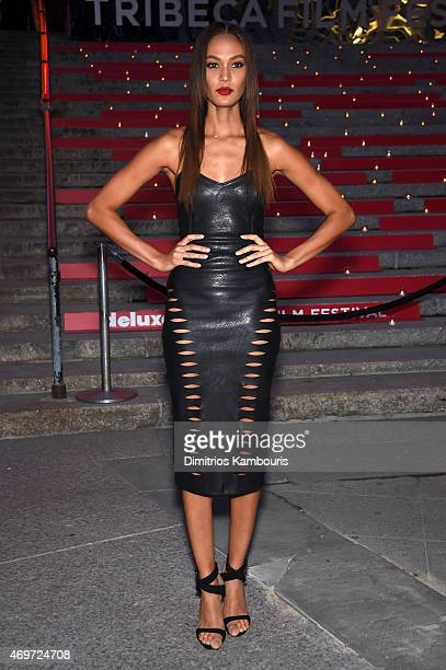 Model Joan Smalls attends the Vanity Fair Party during the 2015 Tribeca Film Festival at the New York State Supreme Court Building on April 14 2015...