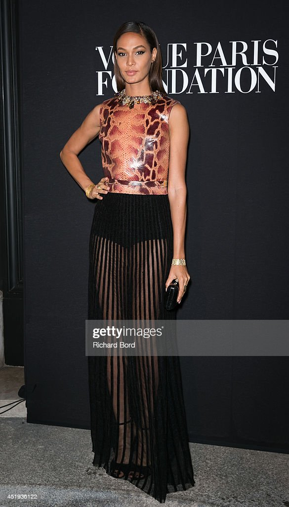 Model <a gi-track='captionPersonalityLinkClicked' href=/galleries/search?phrase=Joan+Smalls&family=editorial&specificpeople=5714628 ng-click='$event.stopPropagation()'>Joan Smalls</a> attends the Vogue Foundation Gala as part of Paris Fashion Week at Palais Galliera on July 9, 2014 in Paris, France.