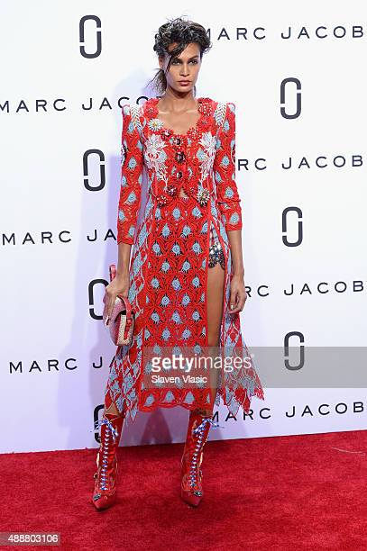 Model Joan Smalls walks the runway at the Marc Jacobs Spring 2016 fashion show during New York Fashion Week at Ziegfeld Theater on September 17 2015...