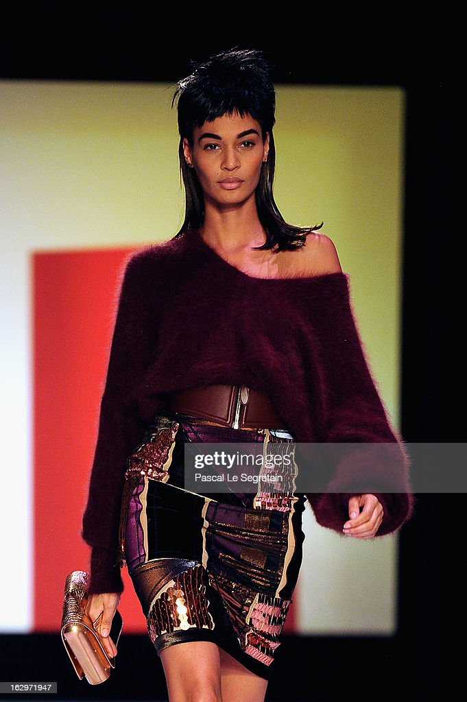 Model Joan Smalls walks the runway during the Jean Paul Gaultier Fall/Winter 2013 Ready-to-Wear show as part of Paris Fashion Week on March 2, 2013 in Paris, France.