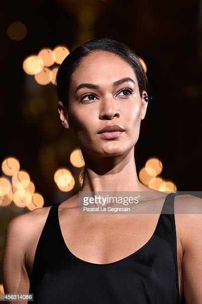 Model Joan Smalls walks the runway during the Stella McCartney show as part of the Paris Fashion Week Womenswear Spring/Summer 2015 on September 29...