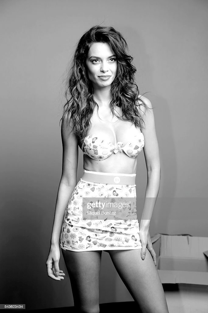 Model Joana Sanz attends at the backstage of BCN Brand Barcelona 080 Fashion Week Spring/Summer 2017 at the INEFC Institut Nacional de Educacio Fisica de Catalunya on June 29, 2016 in Barcelona, Spain.