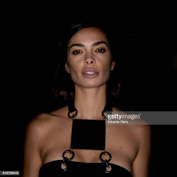 Model Joana Sanz attends the Marcos Luengo catwalk durint the Mercedes Benz Fashion Week Spring / Summer 2017 at IFEMA on September 17 2017 in Madrid...