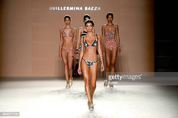Model Joana Sanz walks the runway at the Guillermina Baeza show during the Barcelona 080 Fashion Week Spring/Summer 2017 at the INEFC on June 28 2016...