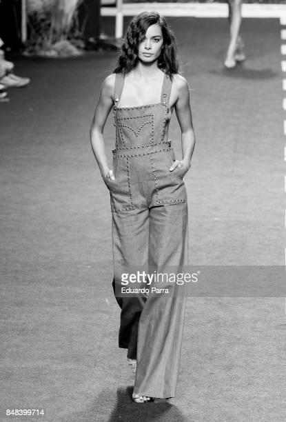 Model Joana Sanz walks the runway at the Roberto Torretta show during the MercedesBenz Madrid Fashion Week on September 16 2017 in Madrid Spain