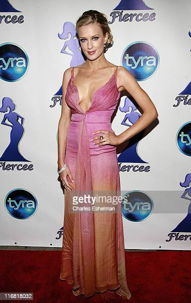 Model Joanie Dodds arrives at the 1st Annual Fiercee Awards honoring the women of 'America's Next Top Model' on 'The Tyra Banks Show' at Chelsea...