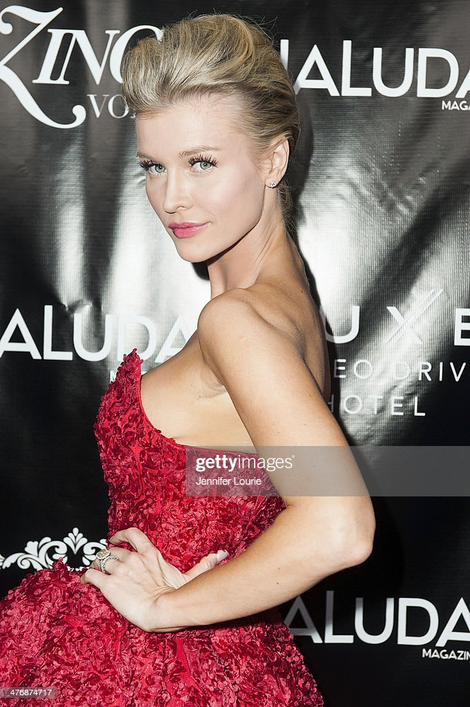 Model <a gi-track='captionPersonalityLinkClicked' href=/galleries/search?phrase=Joanna+Krupa&family=editorial&specificpeople=224038 ng-click='$event.stopPropagation()'>Joanna Krupa</a> arrives at the Naluda Magazine March Issue launch party with cover girl Joyce Giraud hosted at the Luxe Rodeo Drive Hotel on March 4, 2014 in Beverly Hills, California.