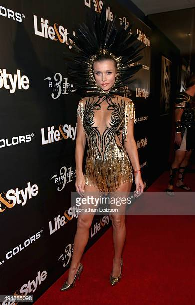 Model Joanna Krupa attends Life Style Weekly's 'Eye Candy' Halloween Bash hosted by LeAnn Rimes at Riviera 31 at Sofitel on October 29 2015 in Los...